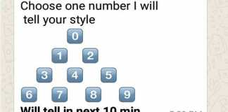 Choose one number and I will tell your style