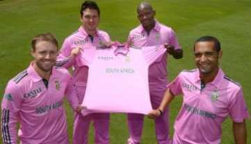 South Africa Team in Pink Jersey