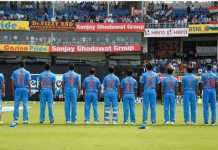 Team India With their mom name on their Jersey