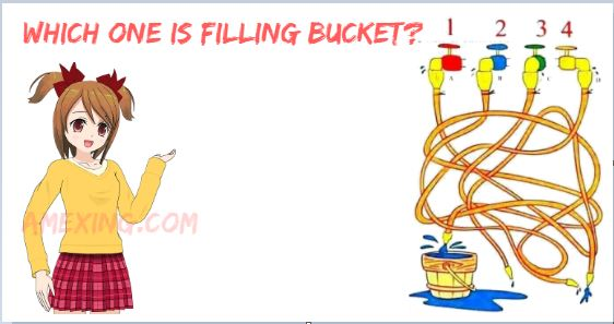 Which one is filling bucket
