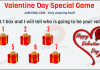Valentine day special whatsapp dare game