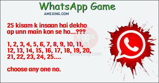 Whatsapp Game