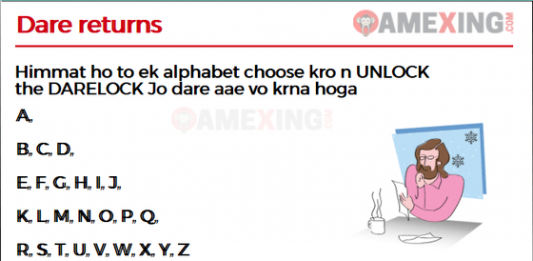 Himmat ho to ek alphabet choose kro