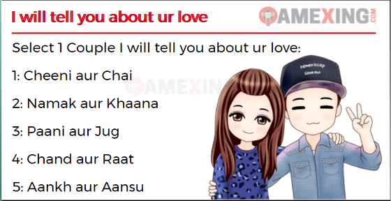 Whatsapp Game for lovers