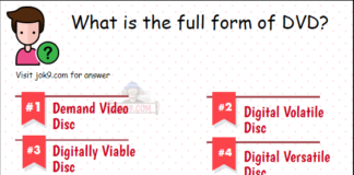 What is the full form of DVD?