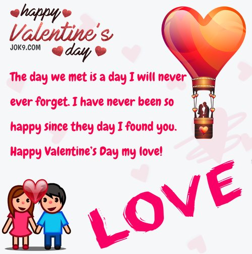 Happy Valentine message for wife