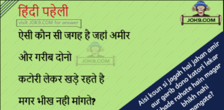 hindi Puzzle with answer