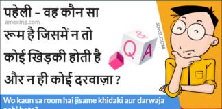Wo kaun sa room hai jisame khidaki aur darwaja nahi hota?